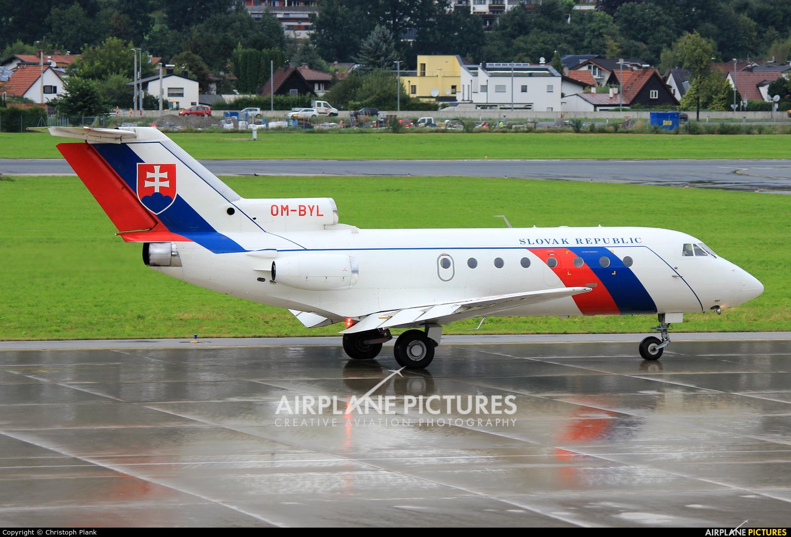Slovakia - Government OM-BYL aircraft at Innsbruck