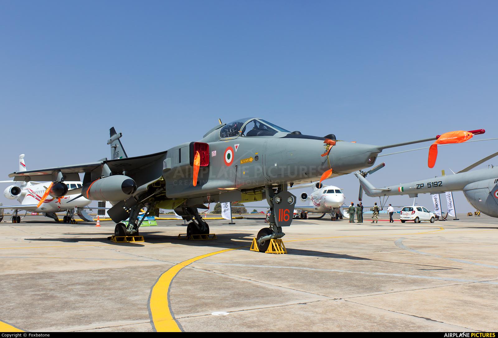 India - Air Force JS116 aircraft at Yelahanka AFB