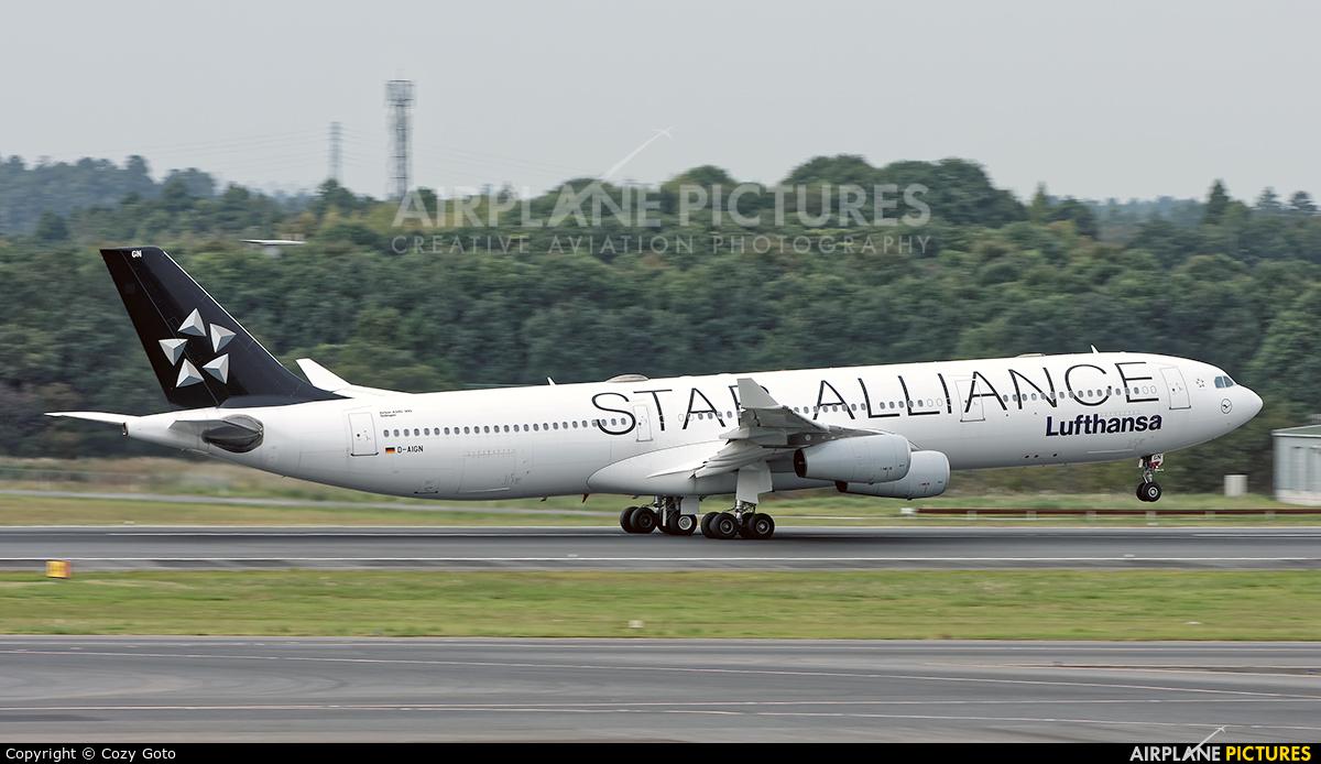 Lufthansa D-AIGN aircraft at Tokyo - Narita Intl