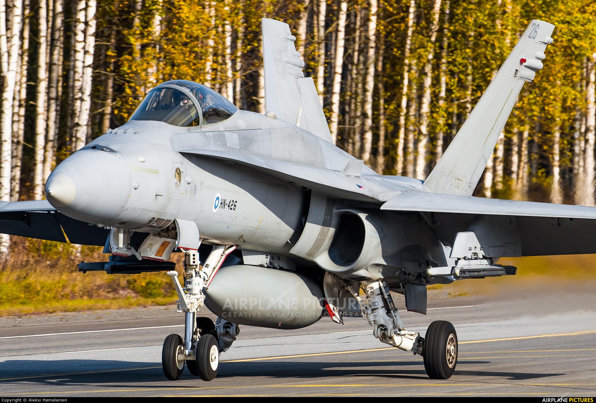 Finland - Air Force HN-426 aircraft at Off Airport - Lusi Highway Strip