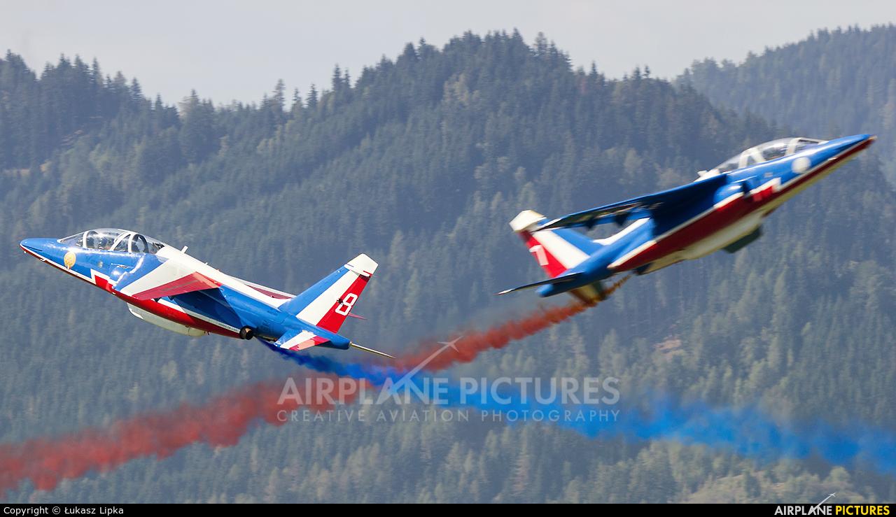 "France - Air Force ""Patrouille de France"" E45 aircraft at Zeltweg"