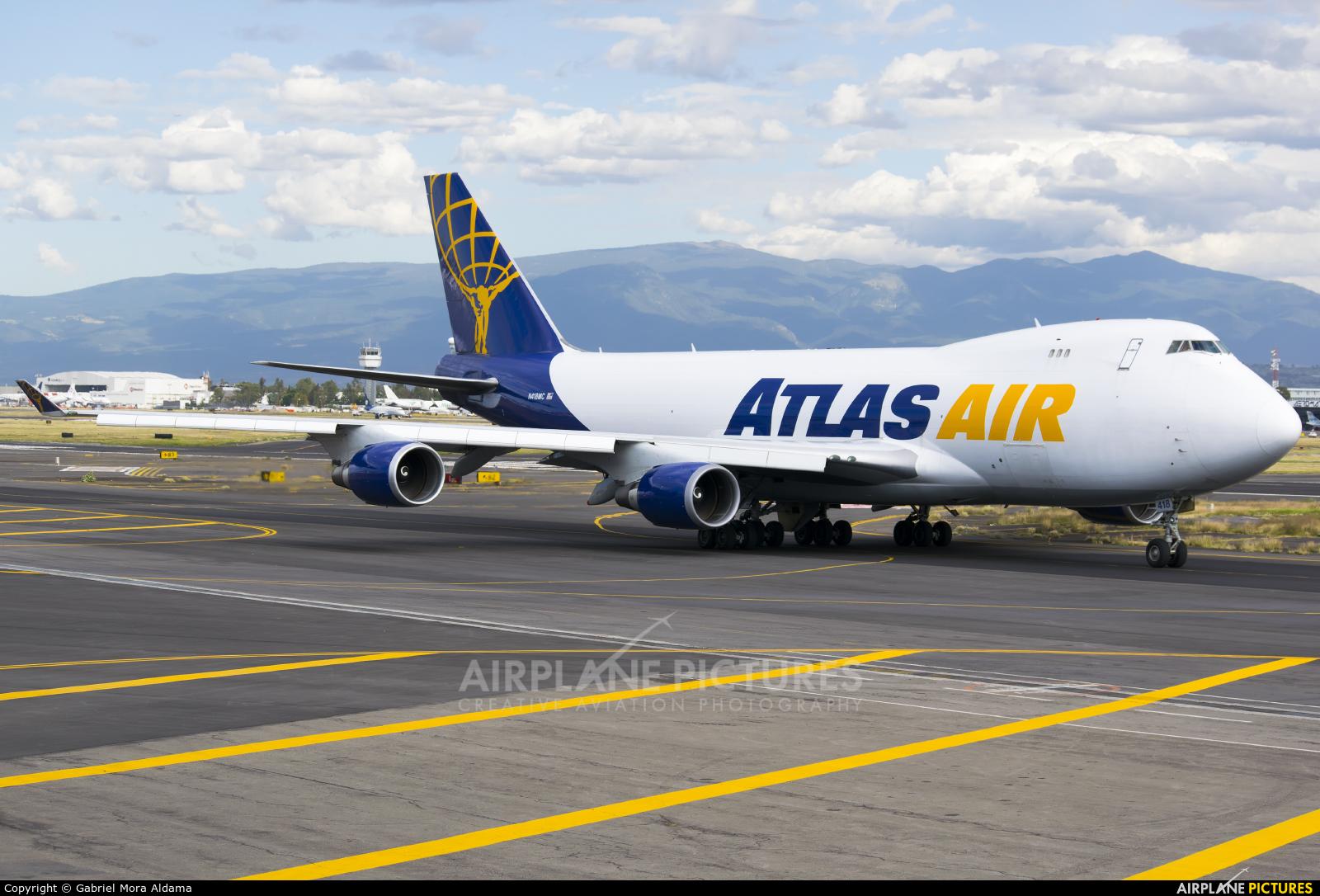 Atlas Air N418MC aircraft at Mexico City - Licenciado Benito Juarez Intl
