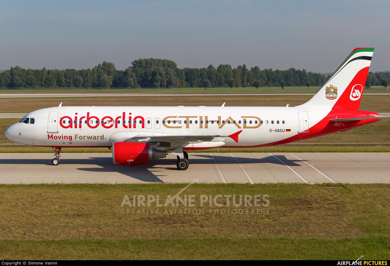Air Berlin D-ABDU aircraft at Munich