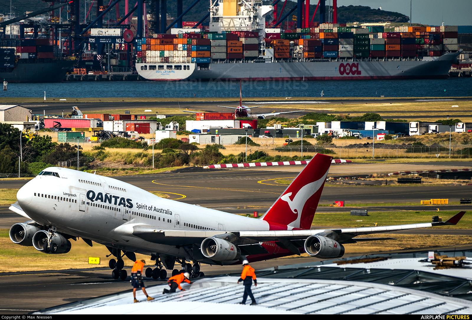 QANTAS VH-OJM aircraft at Sydney - Kingsford Smith Intl, NSW