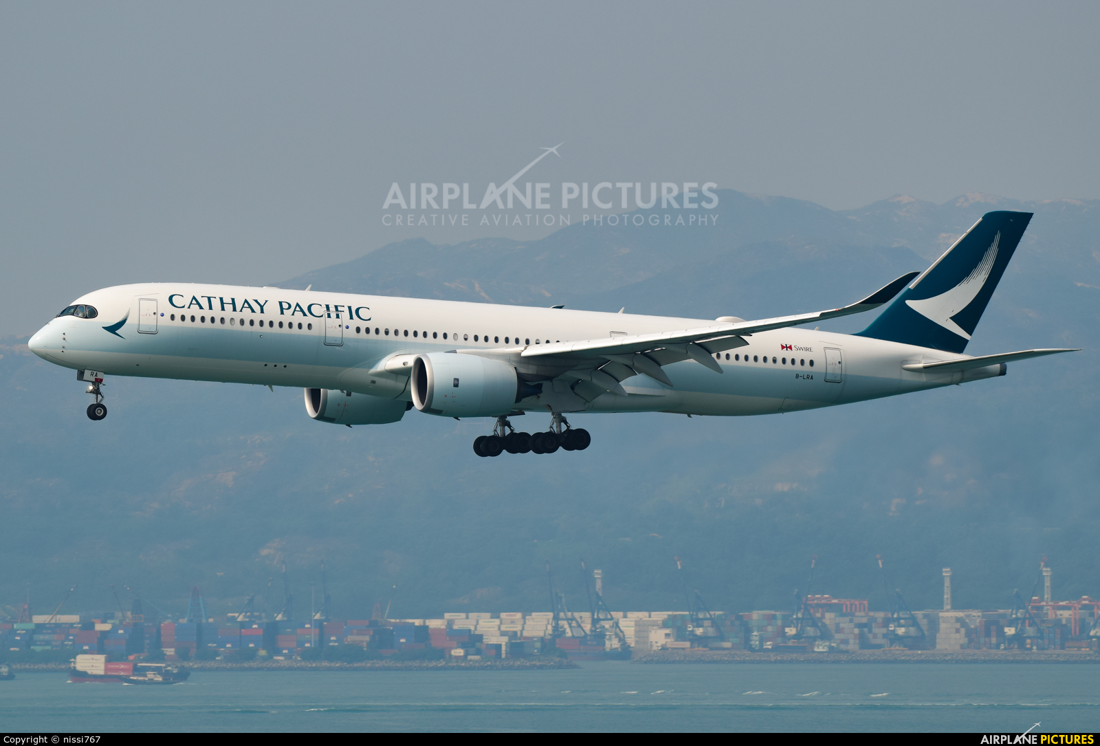 Cathay Pacific B-LRA aircraft at HKG - Chek Lap Kok Intl