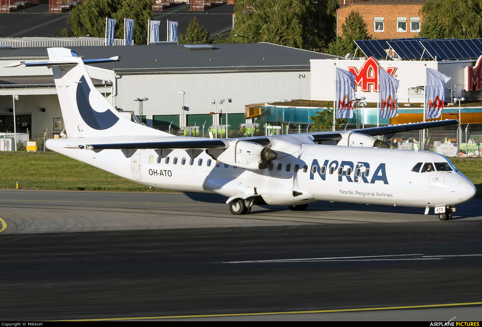 NoRRA - Nordic Regional Airlines OH-ATO aircraft at Stockholm - Bromma