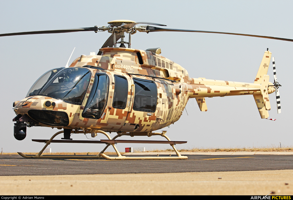 Bell helicopter N407GT aircraft at Lanseria