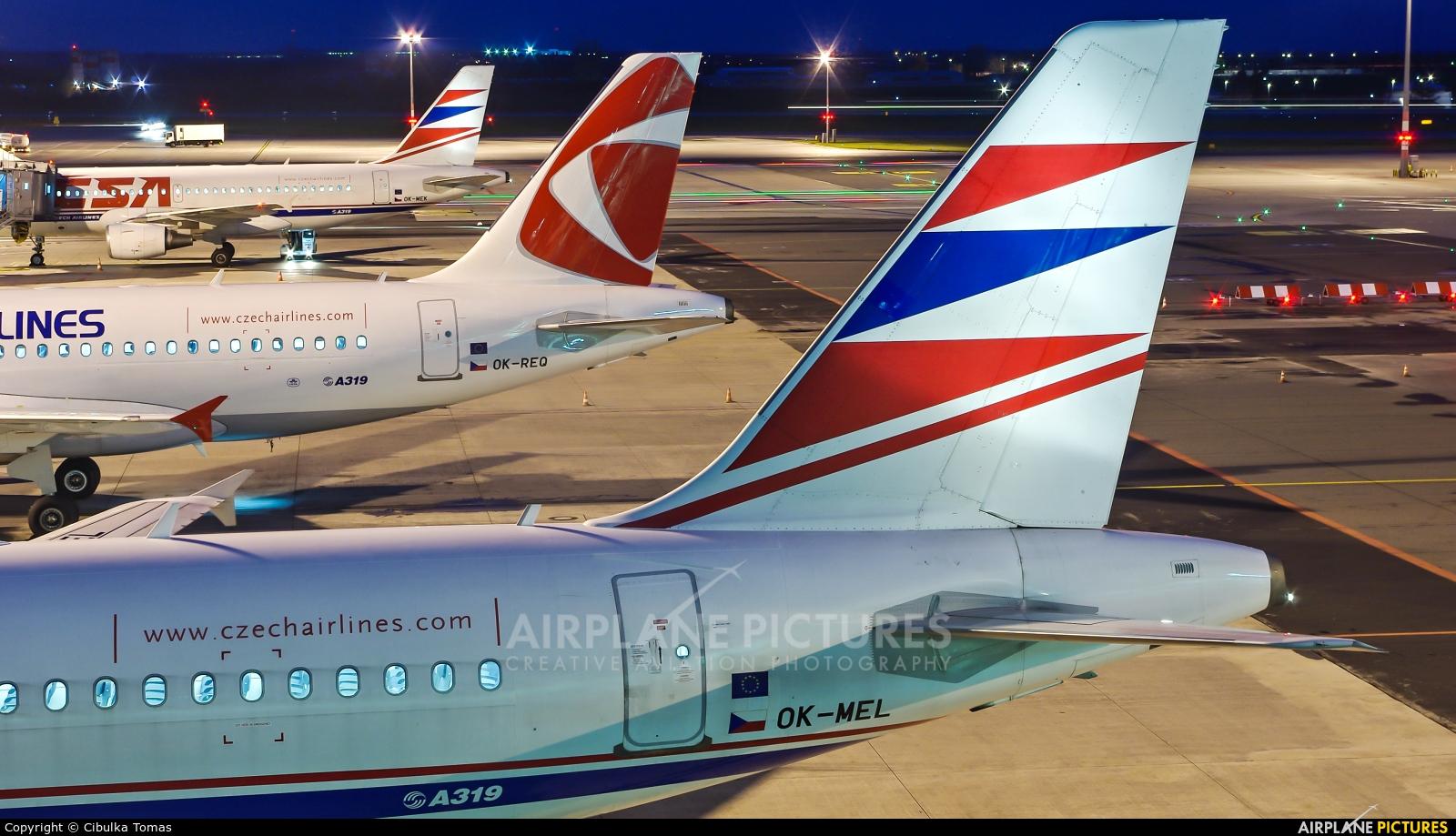 CSA - Czech Airlines OK-MEL aircraft at Prague - Václav Havel