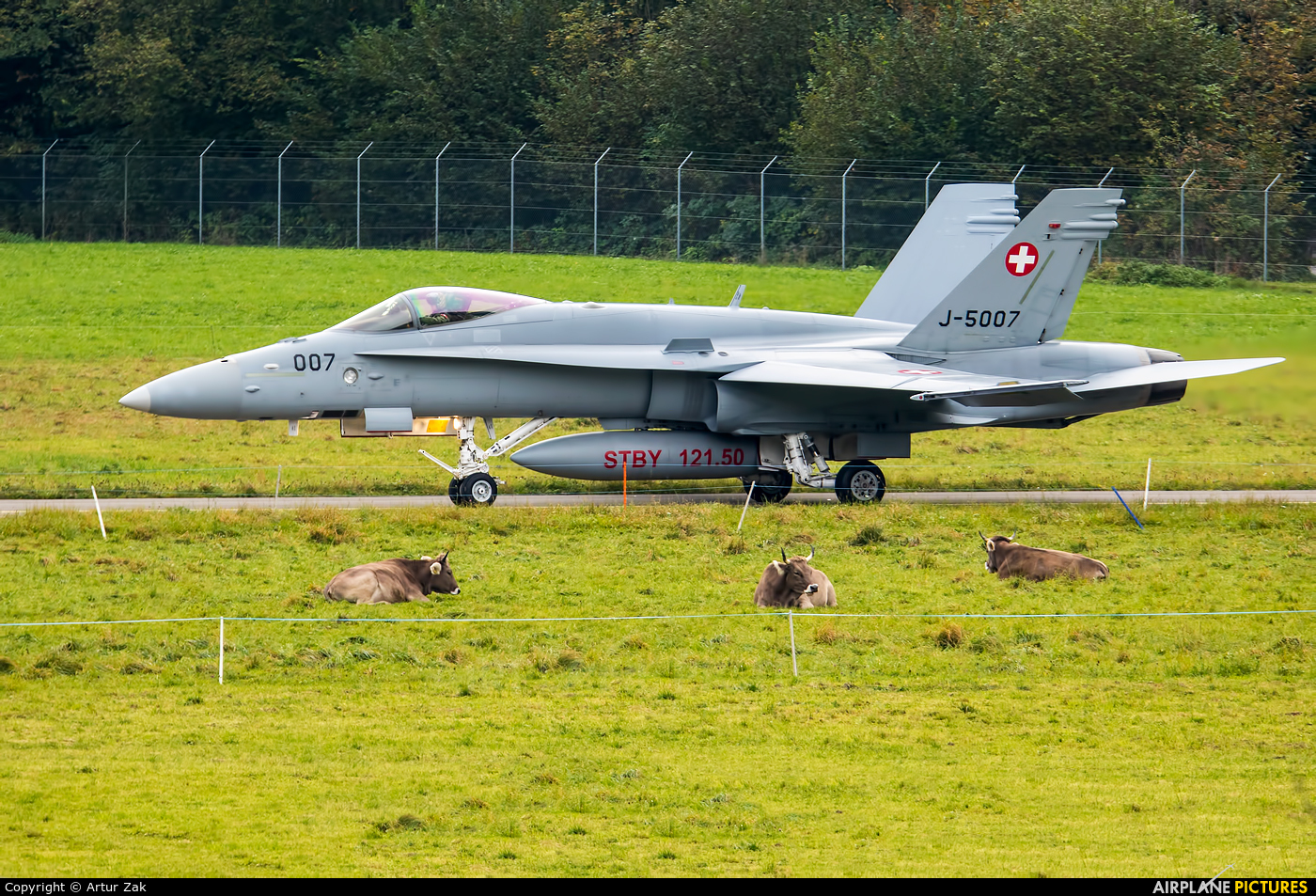 Switzerland - Air Force J-5007 aircraft at Meiringen
