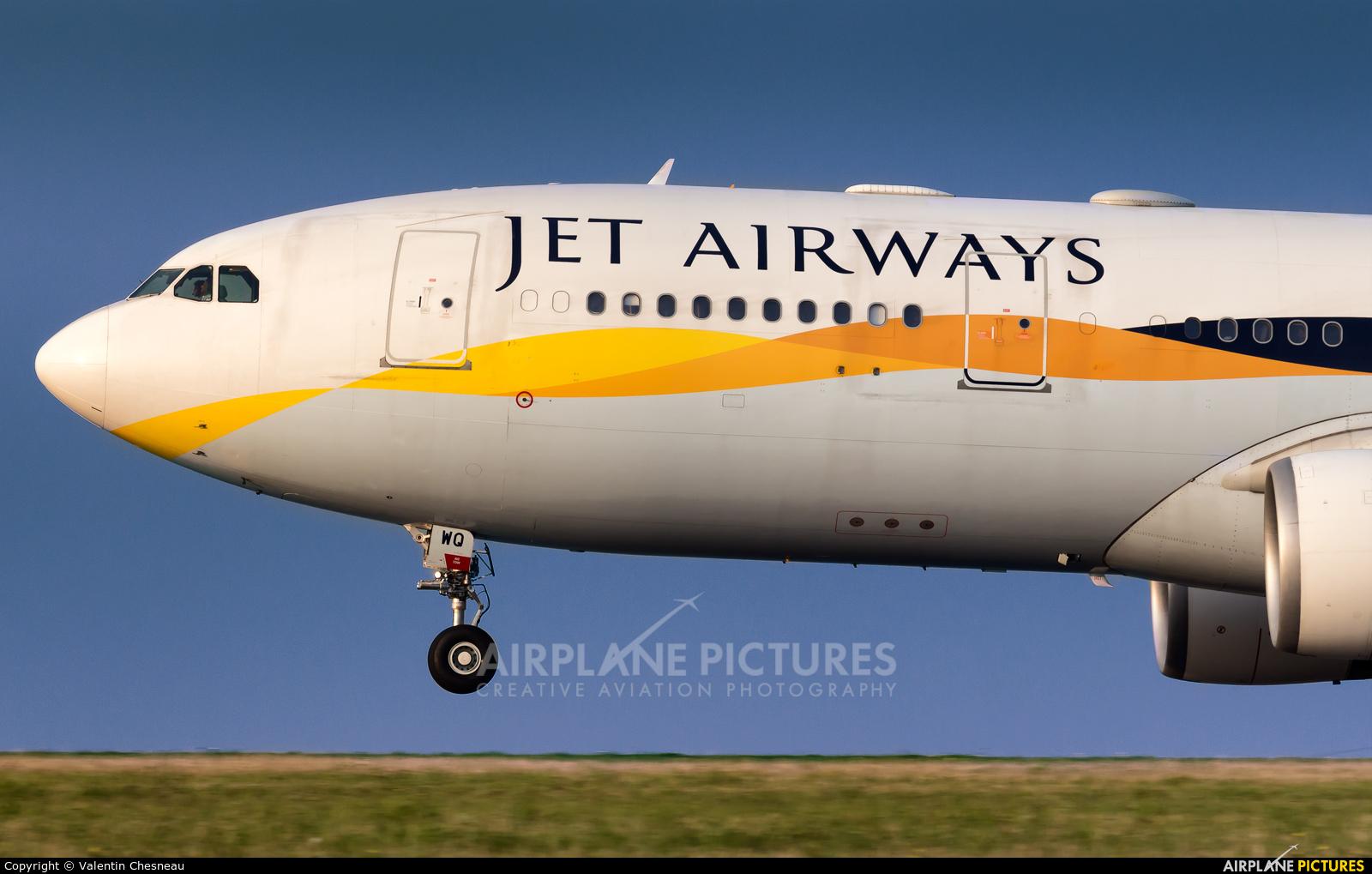 Jet Airways VT-JWQ aircraft at Paris - Charles de Gaulle