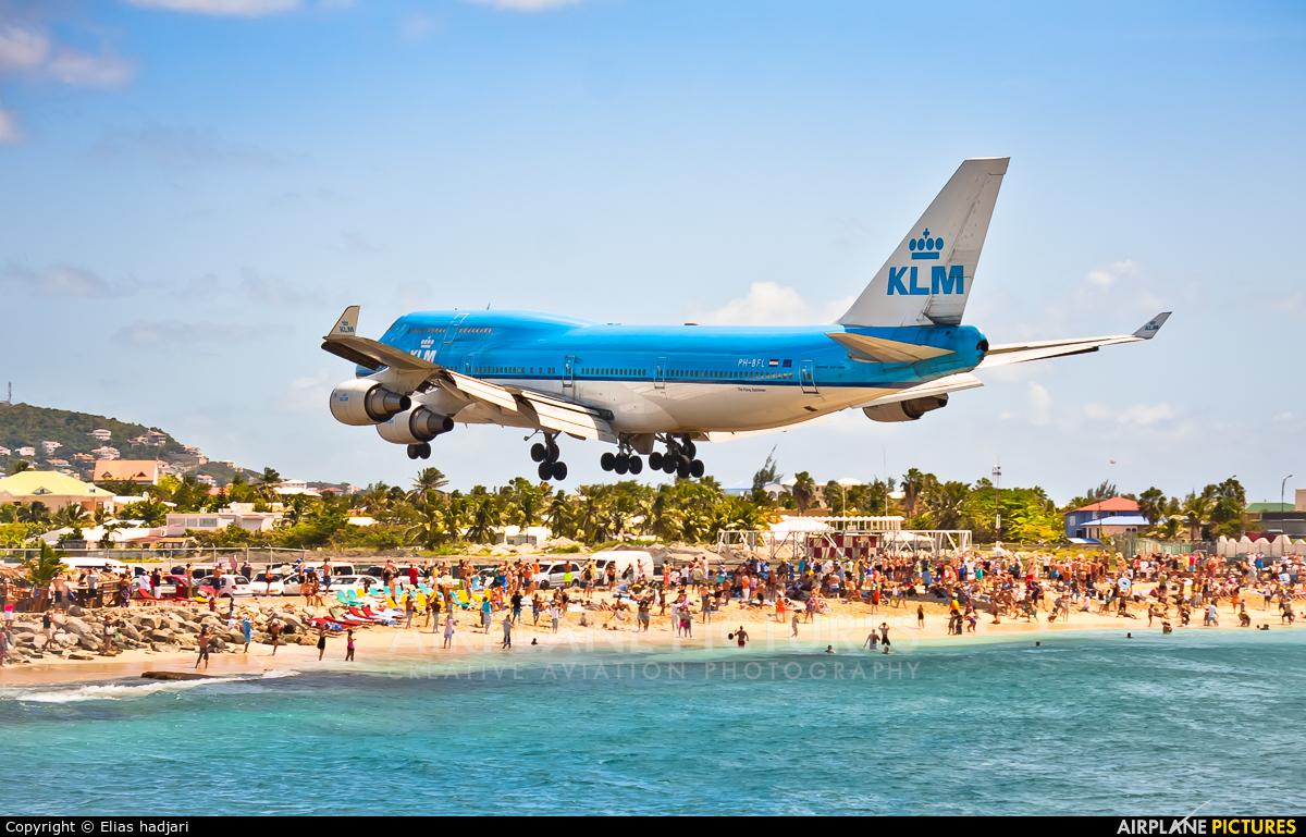 KLM PH-BFL aircraft at Sint Maarten - Princess Juliana Intl