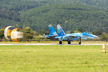 58 - Ukraine - Air Force Sukhoi Su-27UB