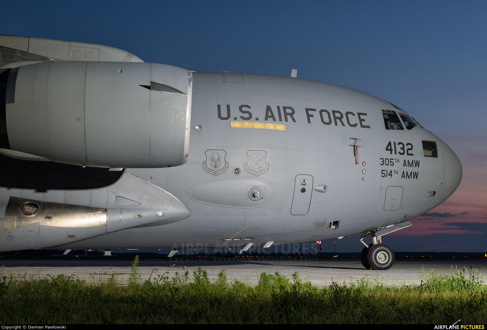 USA - Air Force 04-4132 aircraft at Bydgoszcz - Szwederowo