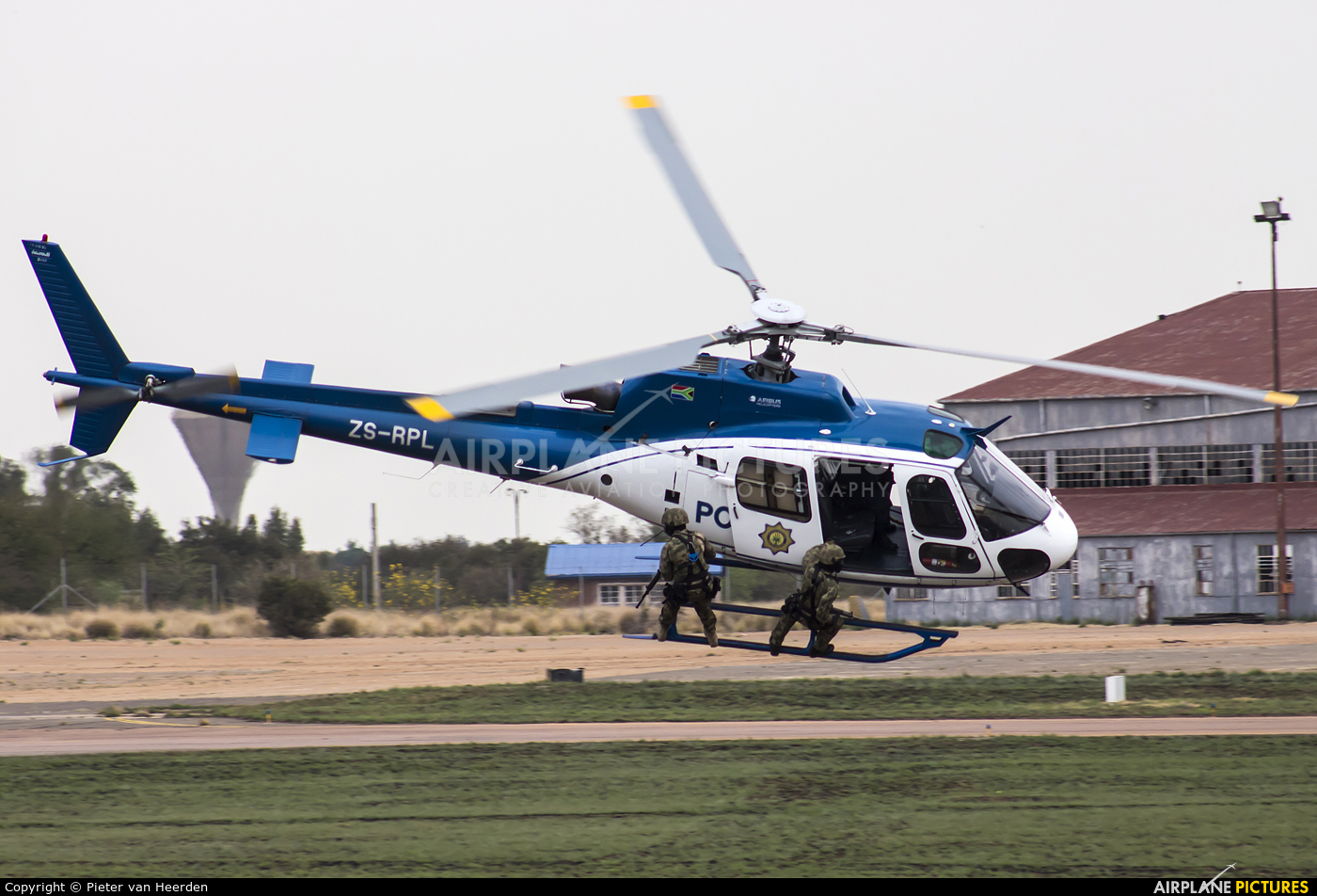 South Africa - Police ZS-RPL aircraft at Waterkloof