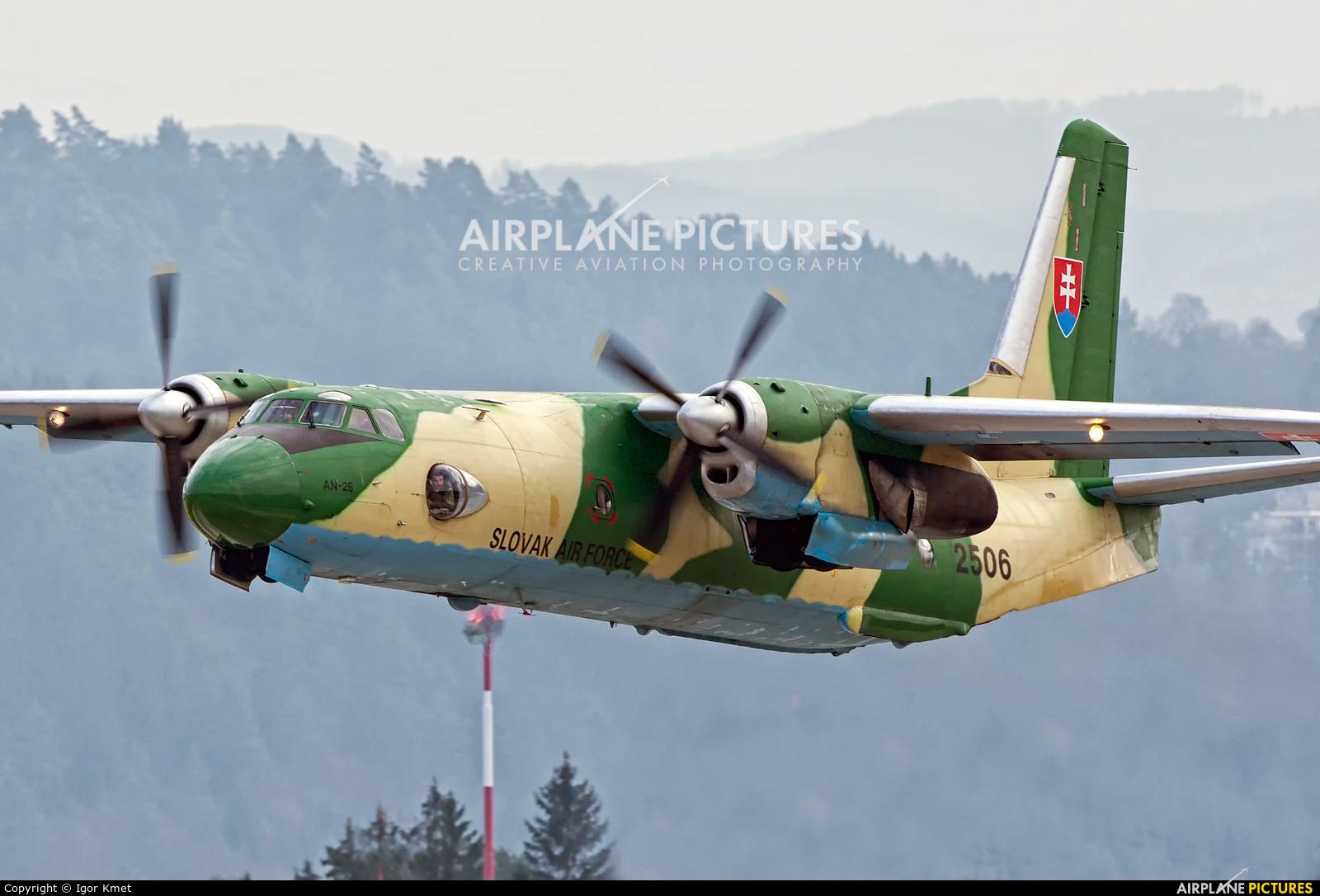 Slovakia -  Air Force 2506 aircraft at Sliač
