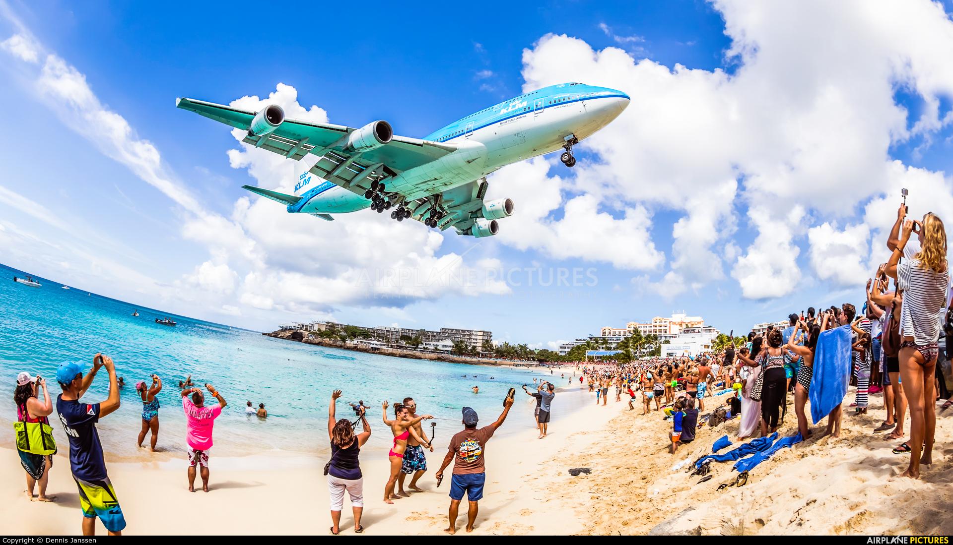 KLM PH-BFN aircraft at Sint Maarten - Princess Juliana Intl
