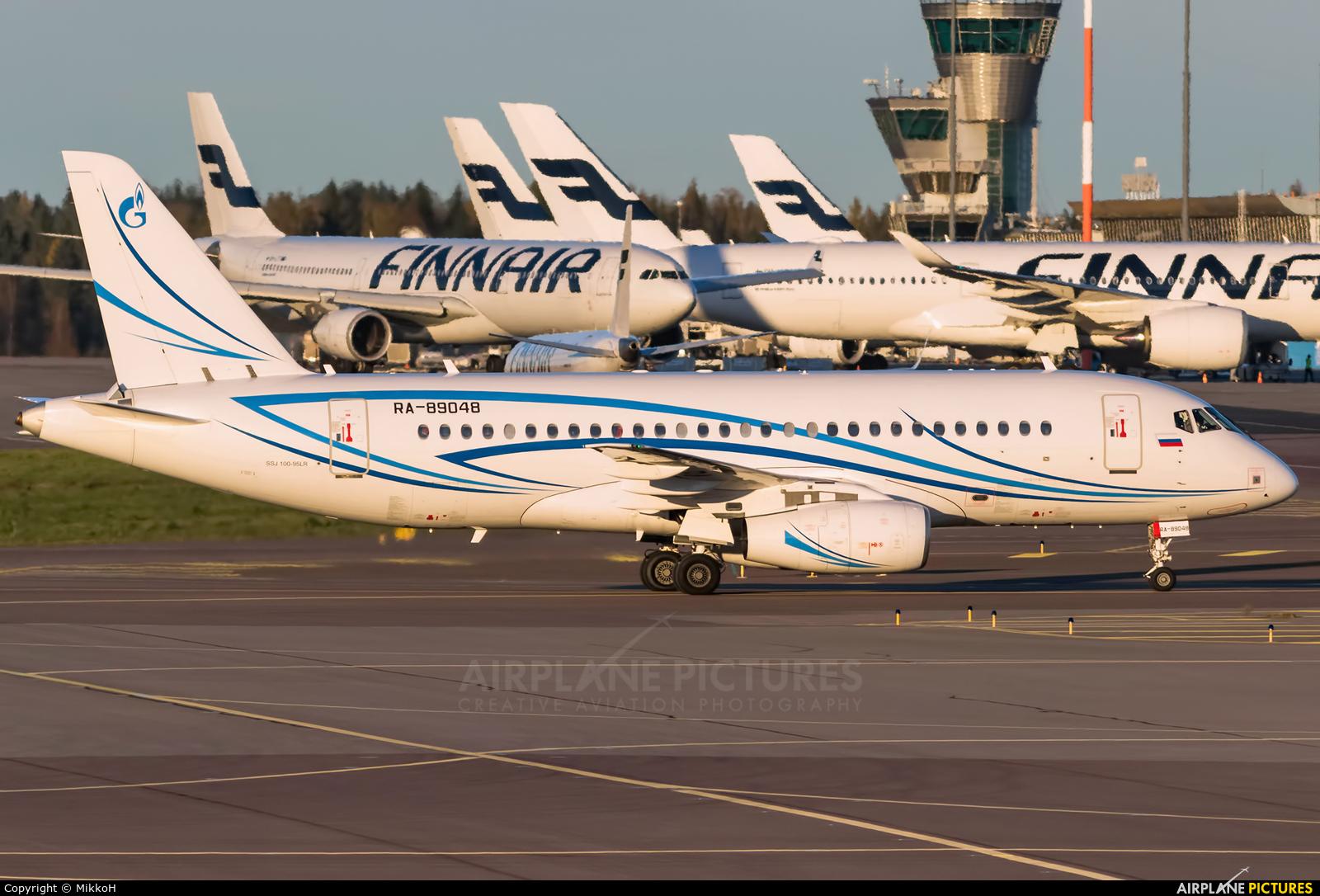 Gazpromavia RA-89048 aircraft at Helsinki - Vantaa