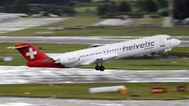 HB-JVE - Helvetic Airways Fokker 100 aircraft