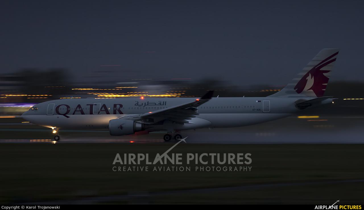 Qatar Airways A7-ACK aircraft at Warsaw - Frederic Chopin