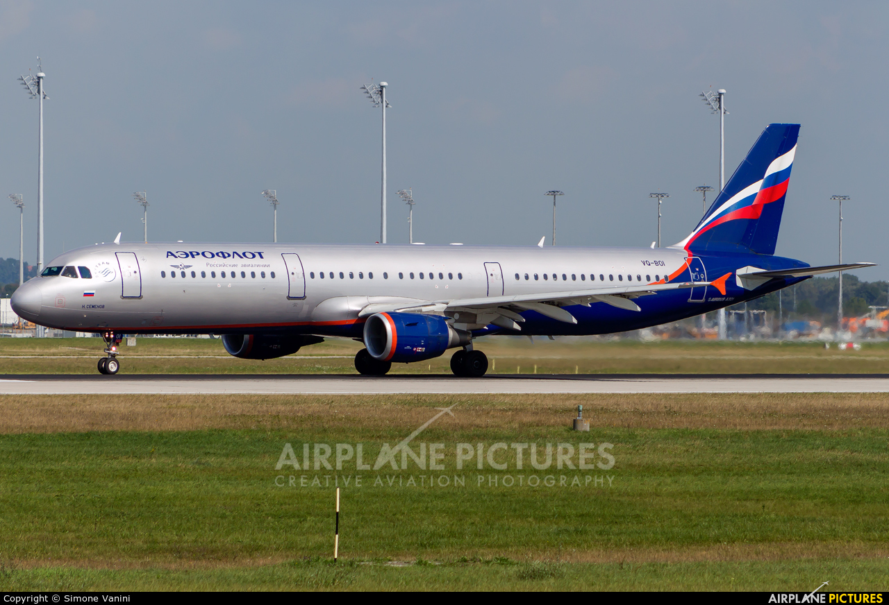 Aeroflot VQ-BOI aircraft at Munich