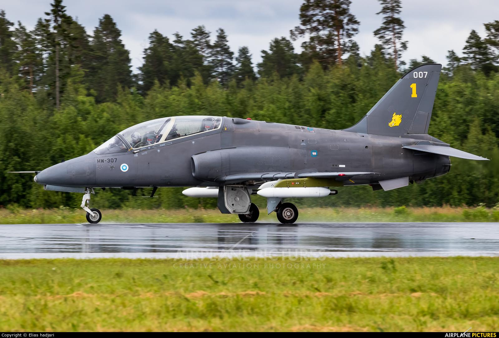 Finland - Air Force: Midnight Hawks HW-307 aircraft at Kuopio Rissala