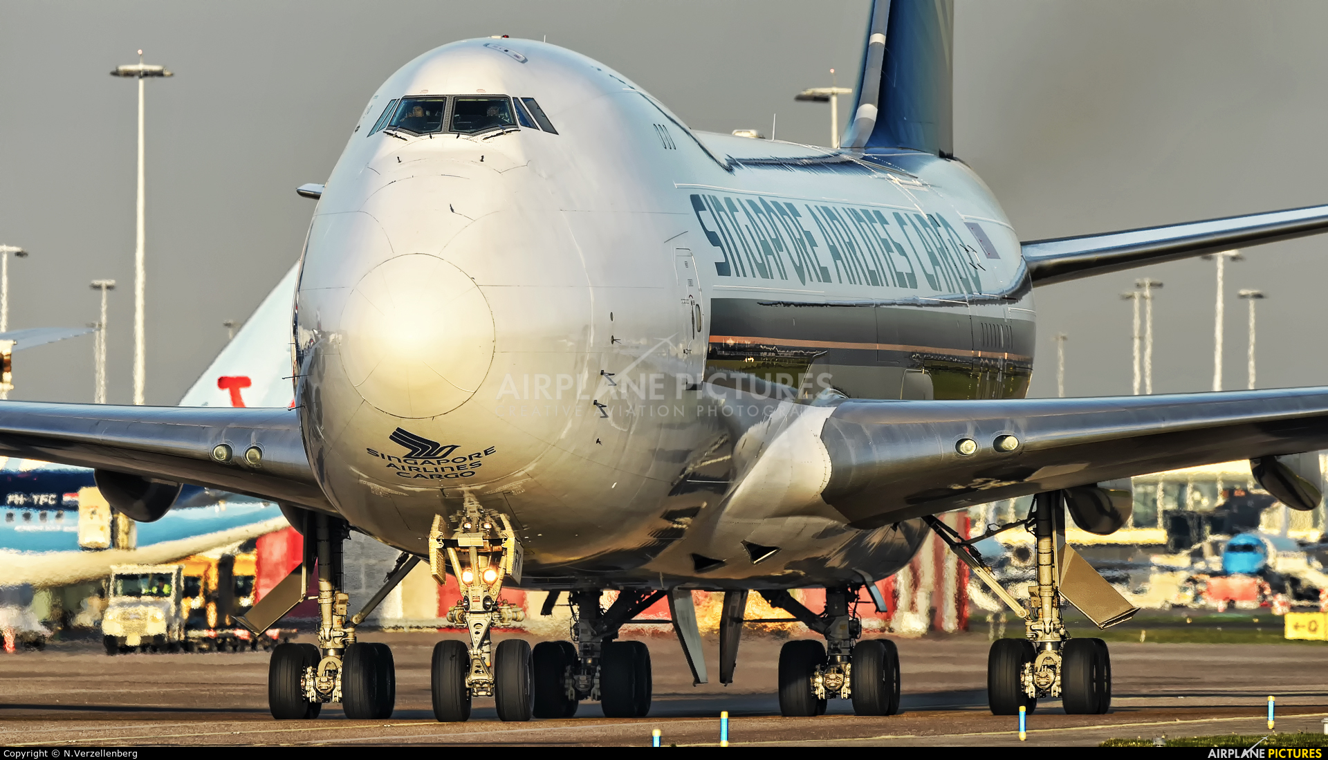 Singapore Airlines Cargo 9V-SFK aircraft at Amsterdam - Schiphol