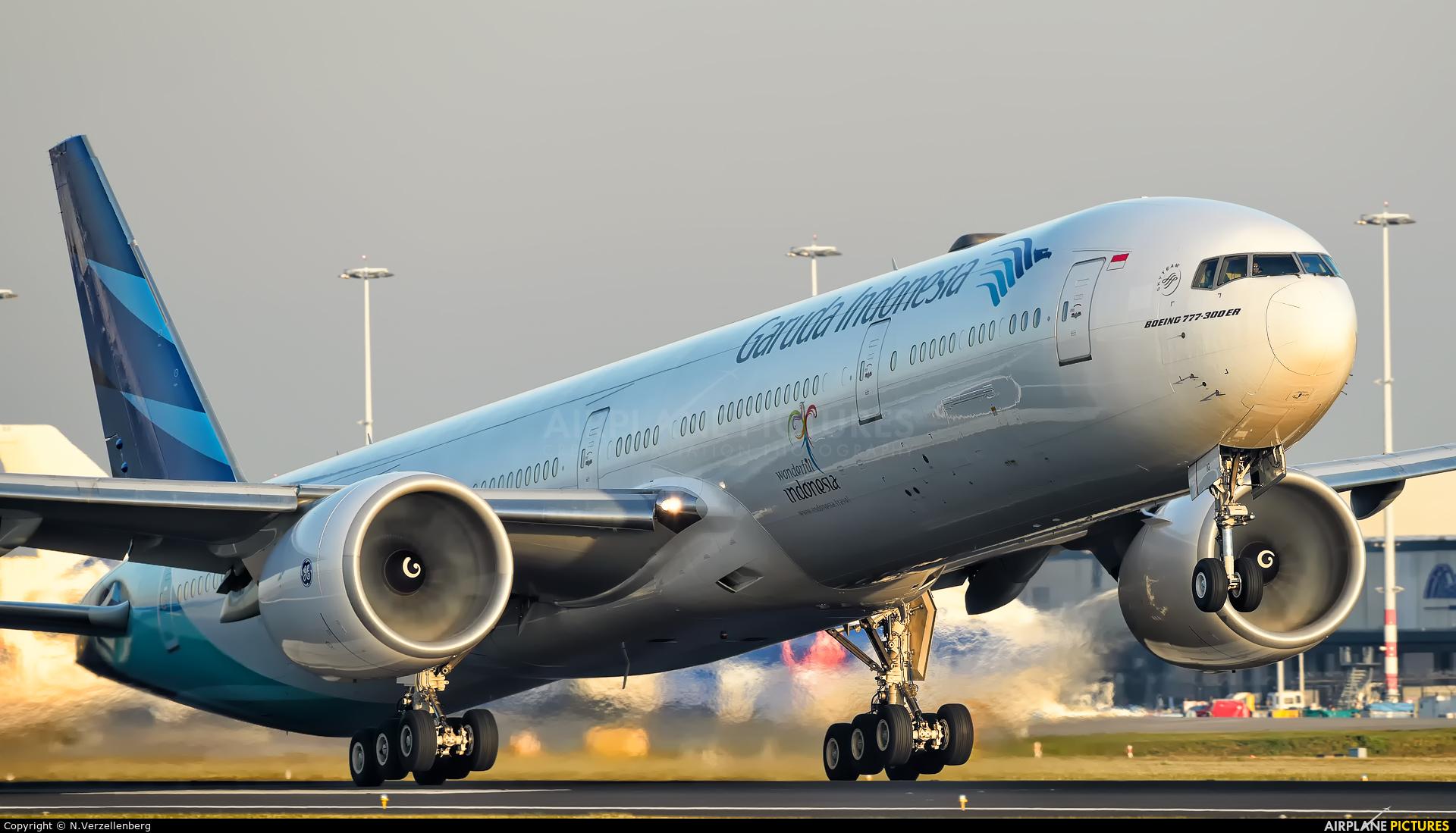 Garuda Indonesia PK-GIC aircraft at Amsterdam - Schiphol