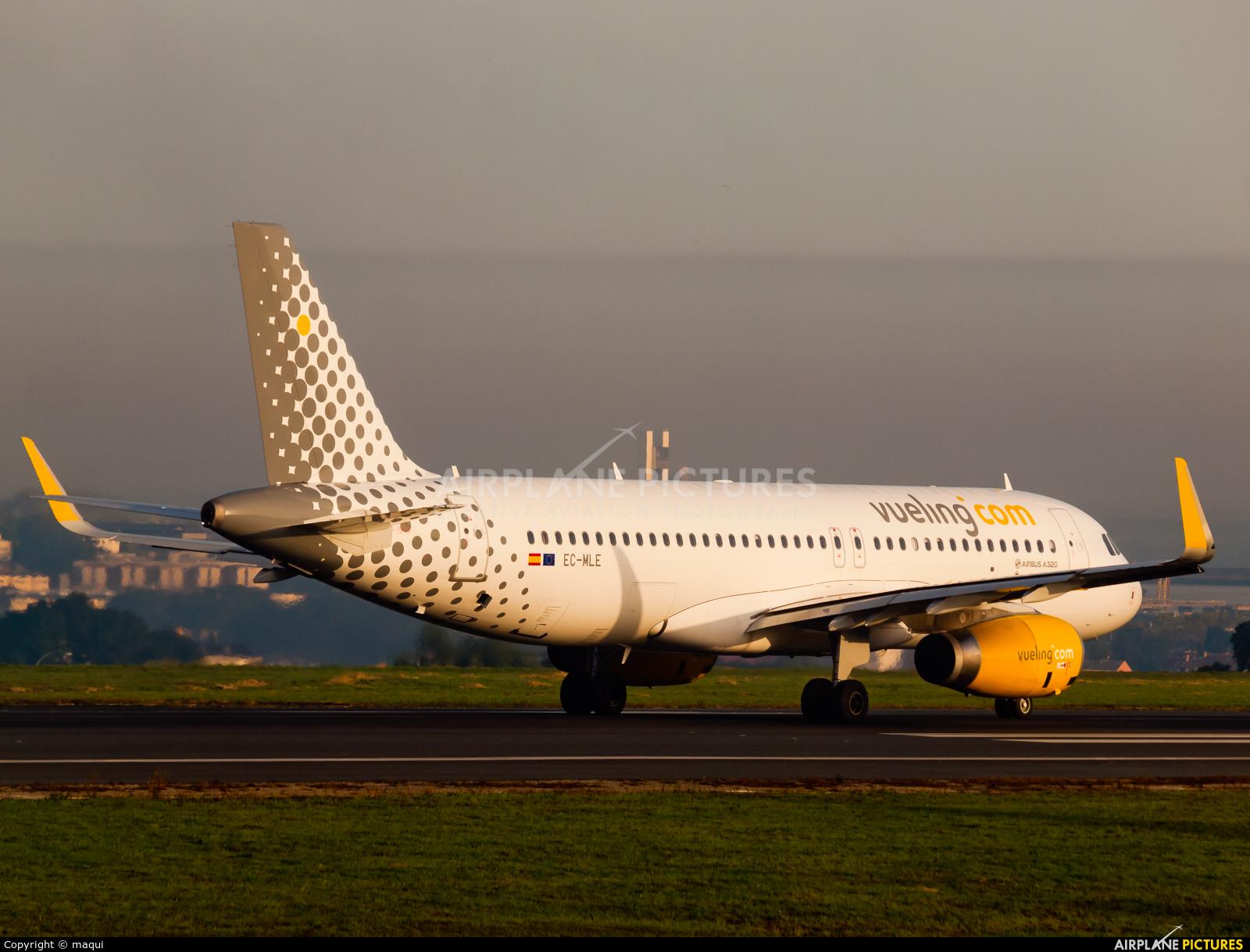Vueling Airlines EC-MLE aircraft at La Coruña