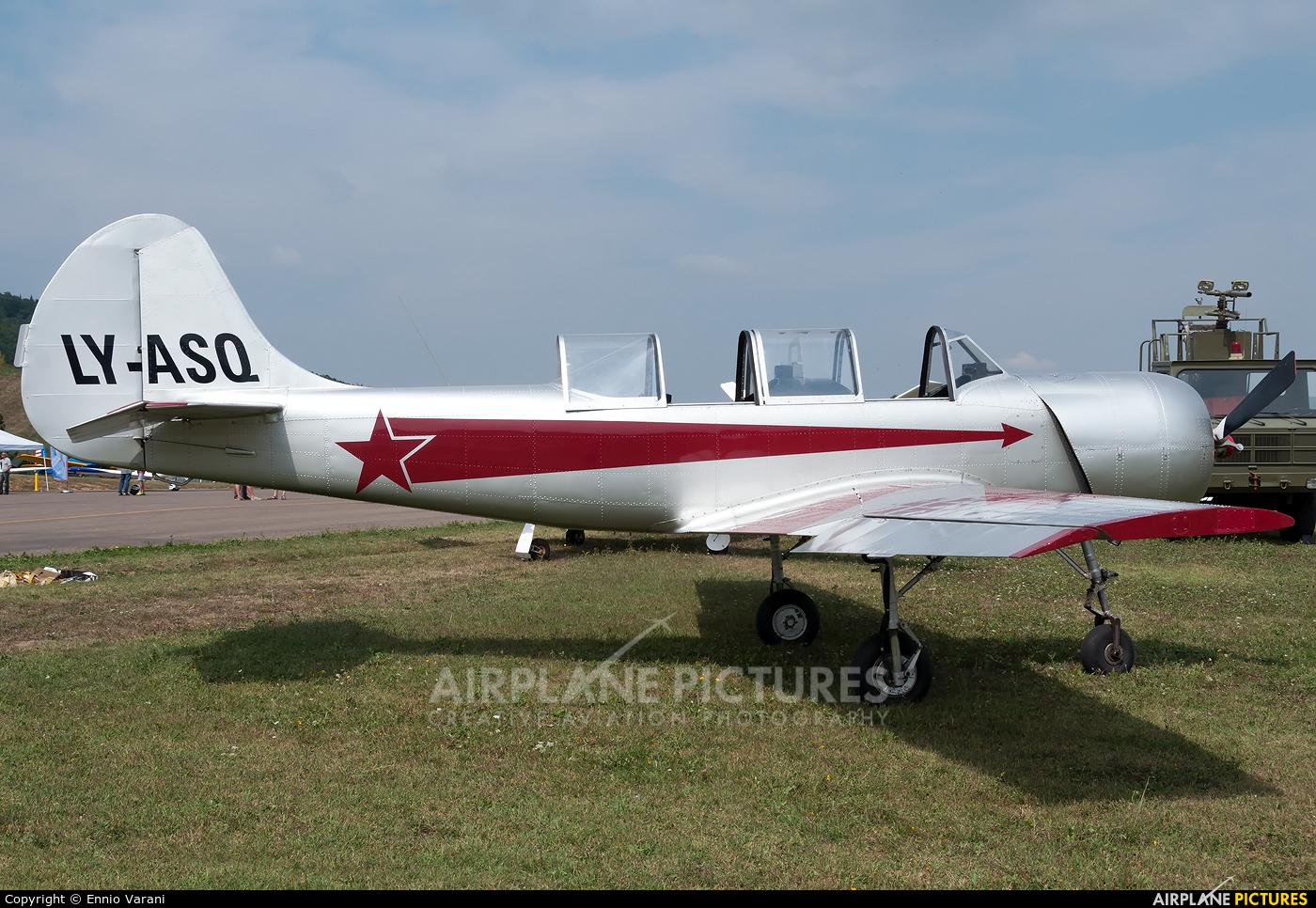 Private LY-ASQ aircraft at Pavullo nel Frignano