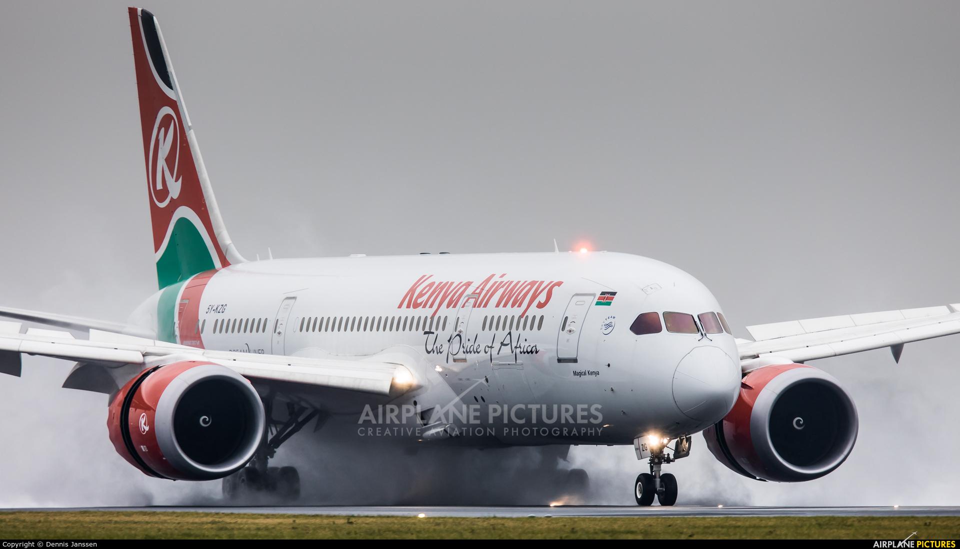 Kenya Airways 5Y-KZG aircraft at Amsterdam - Schiphol