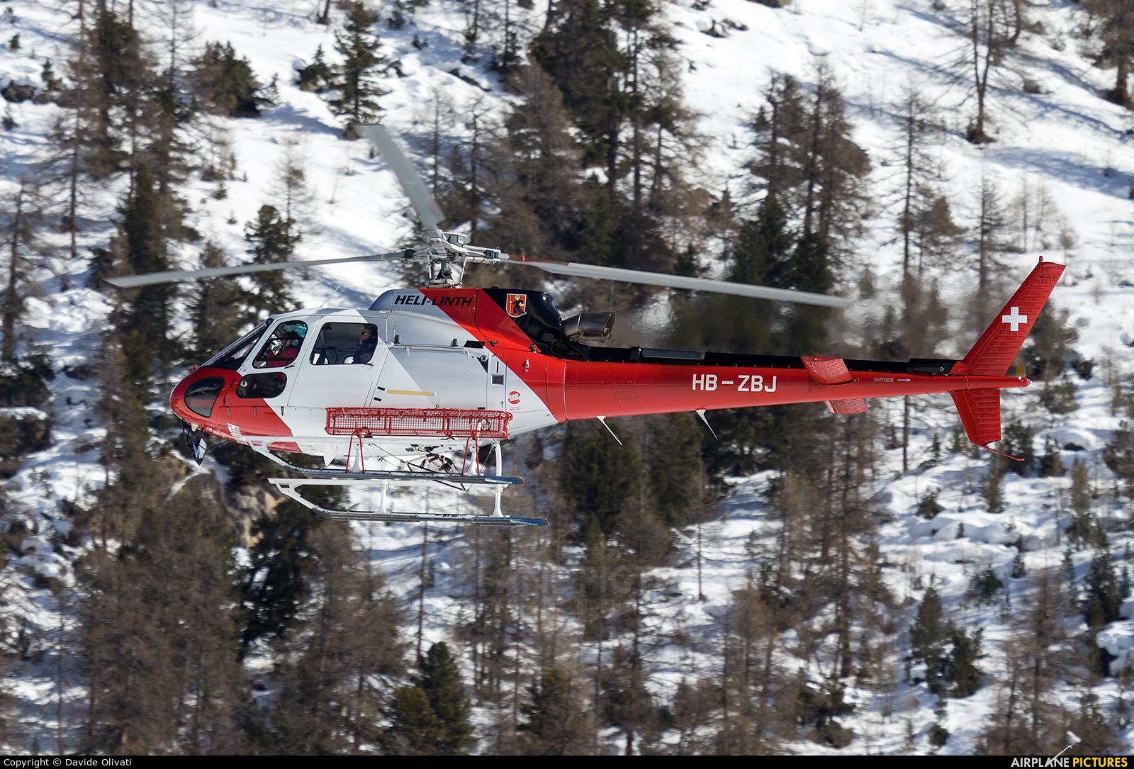 Heli Linth HB-ZBJ aircraft at Samedan - Engadin