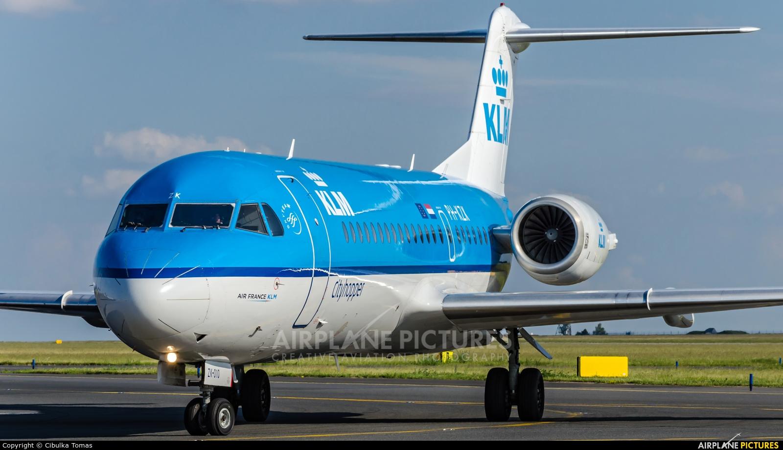 KLM Cityhopper PH-KZK aircraft at Prague - Václav Havel