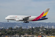 HL7625 - Asiana Airlines Airbus A380 aircraft