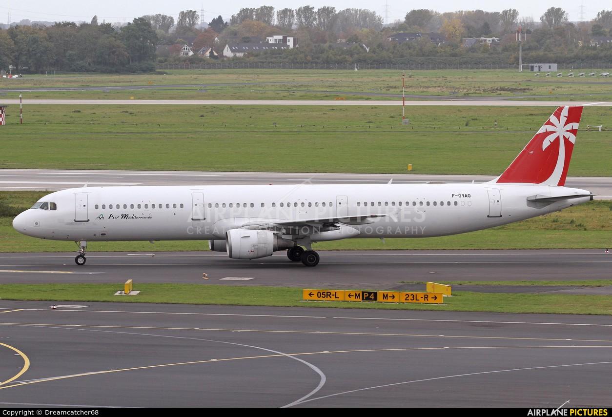 Air Mediterranee F-GYAQ aircraft at Düsseldorf