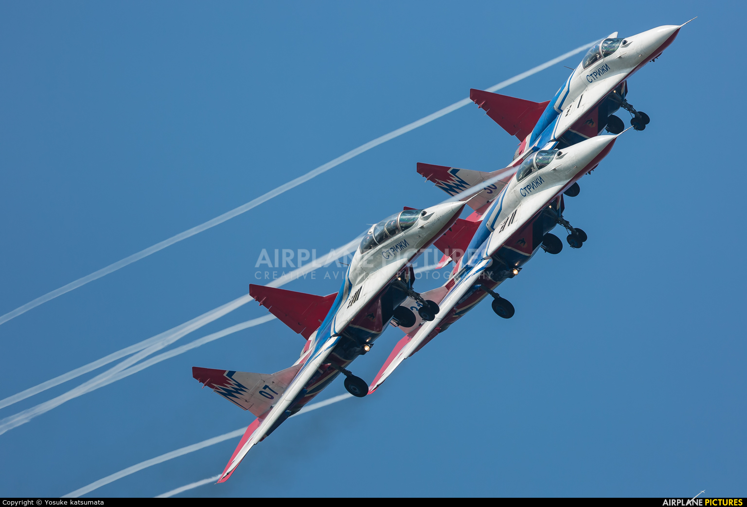 "Russia - Air Force ""Strizhi"" 07 aircraft at Zhūhǎi-Jīnwān"