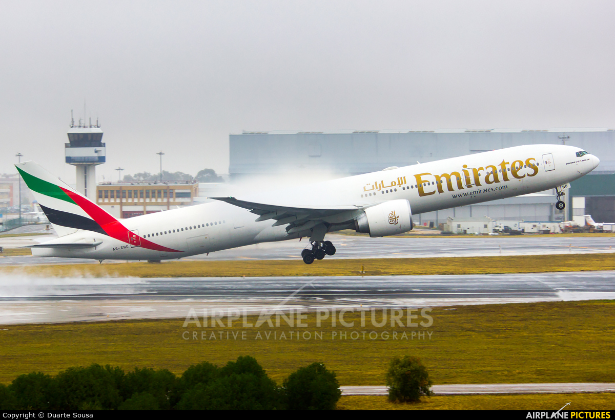 Emirates Airlines A6-END aircraft at Lisbon