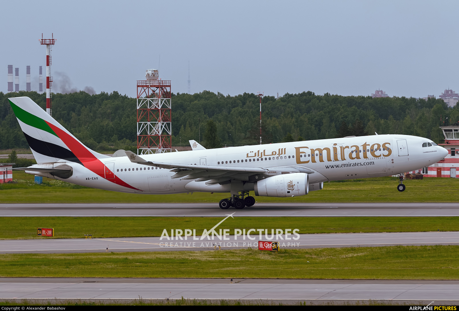 Emirates Airlines Airbus A330-200 A6-EAQ