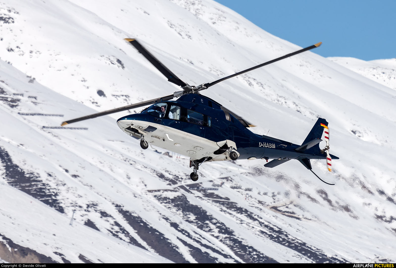 Private D-HABM aircraft at Samedan - Engadin