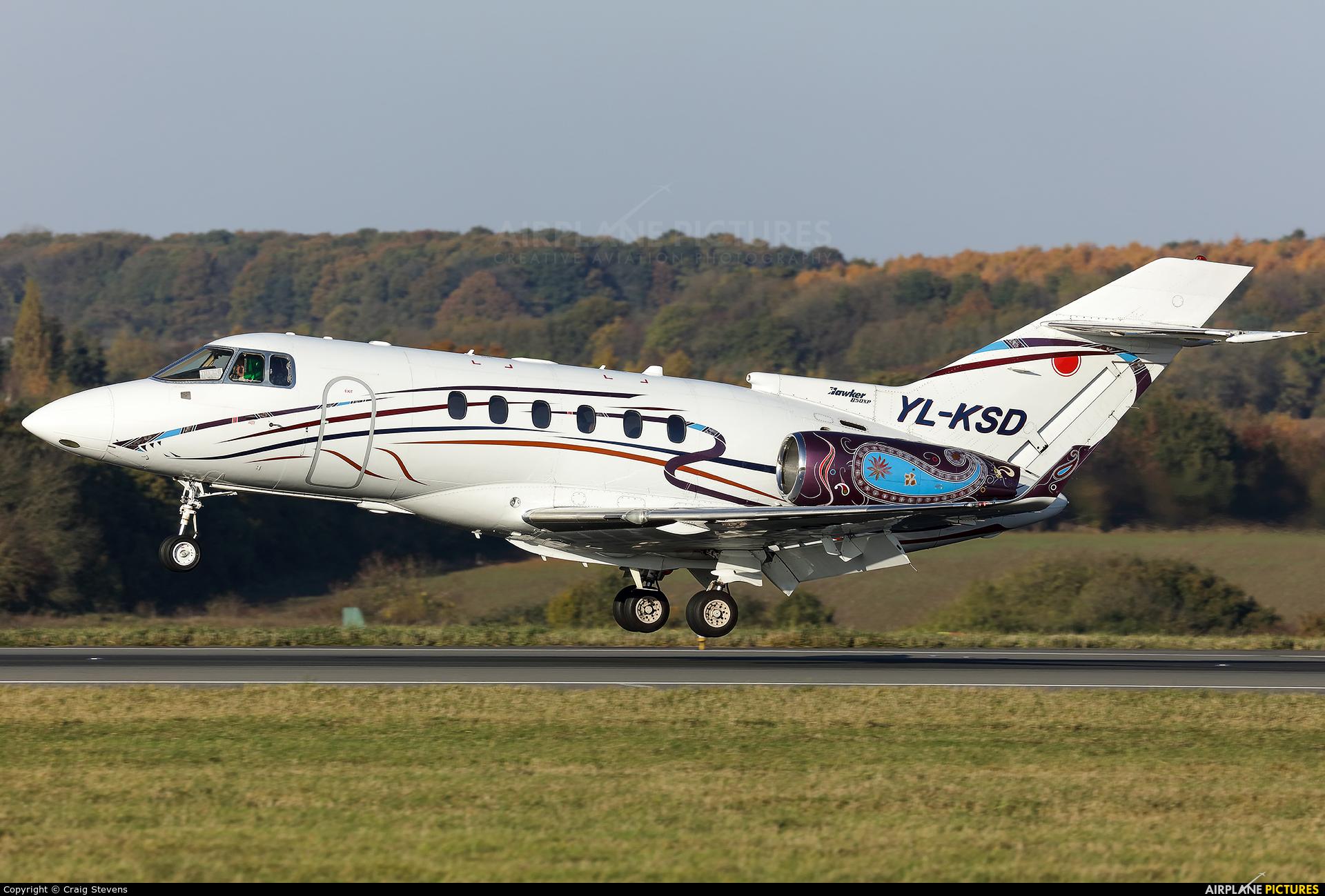 KS Avia YL-KSD aircraft at London - Luton