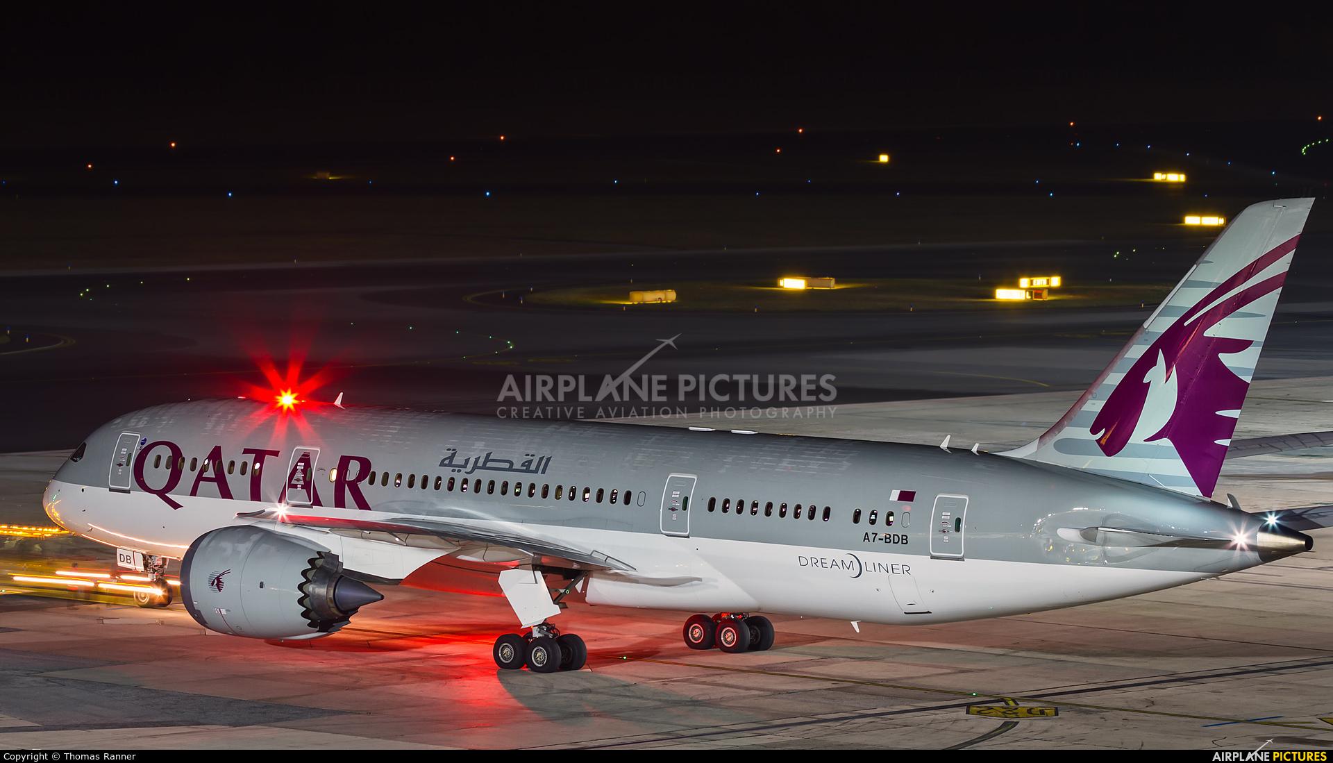 Qatar Airways A7-BDB aircraft at Vienna - Schwechat
