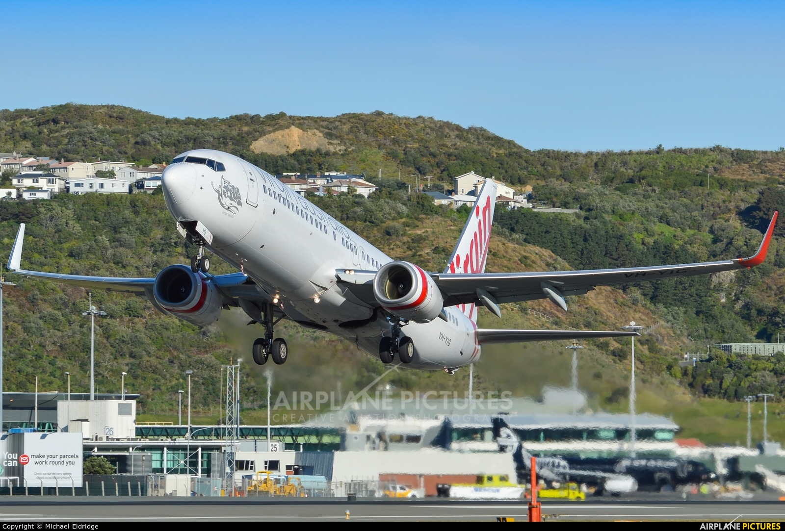 Virgin Australia VH-YIG aircraft at Wellington Intl