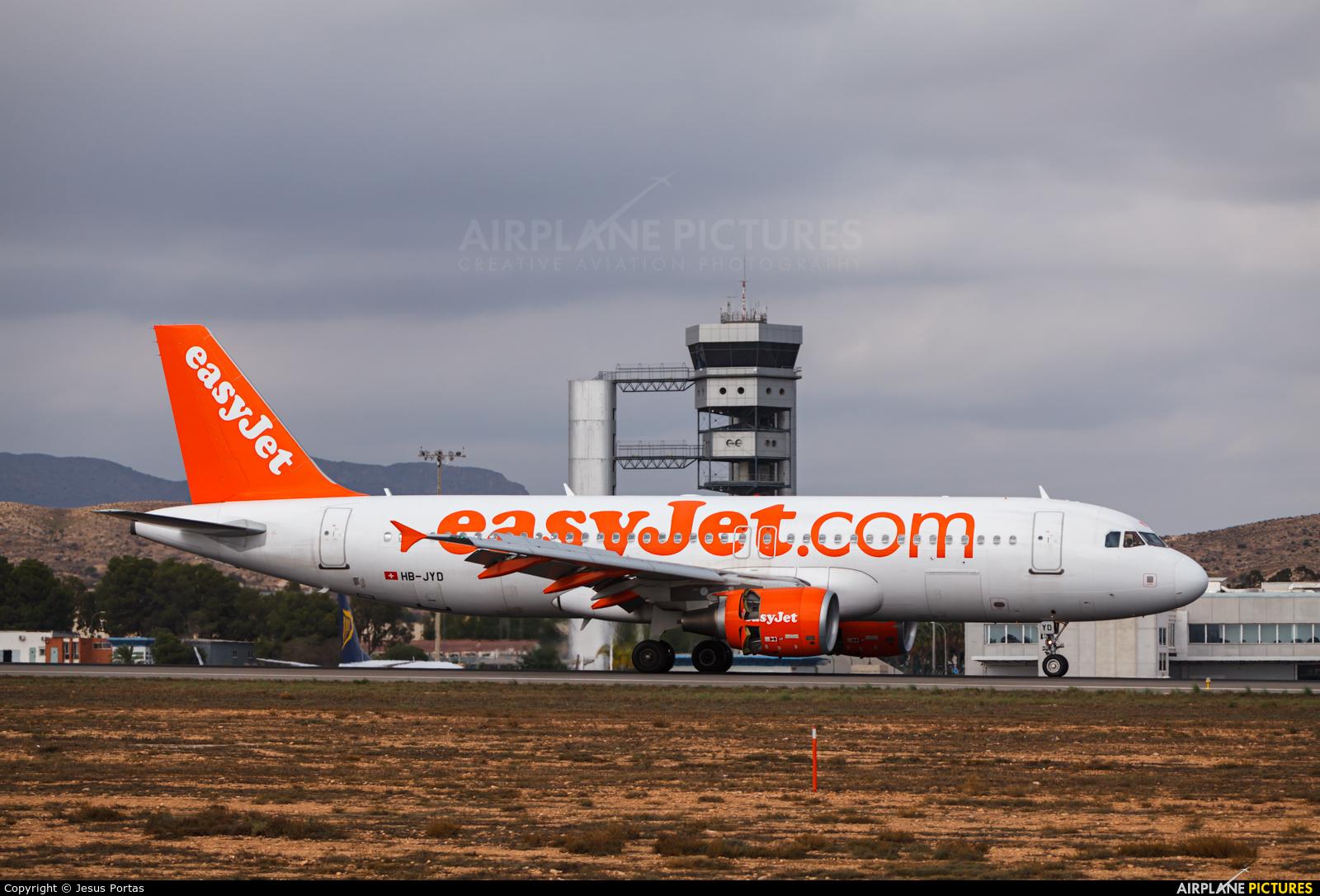 easyJet Switzerland HB-JYD aircraft at Alicante - El Altet