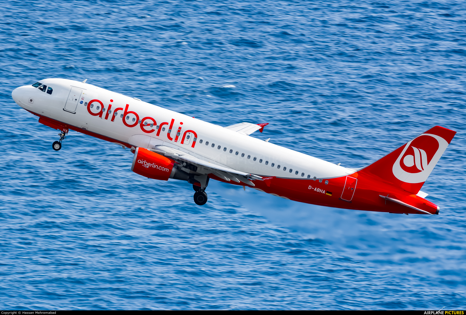 Air Berlin D-ABHA aircraft at Madeira