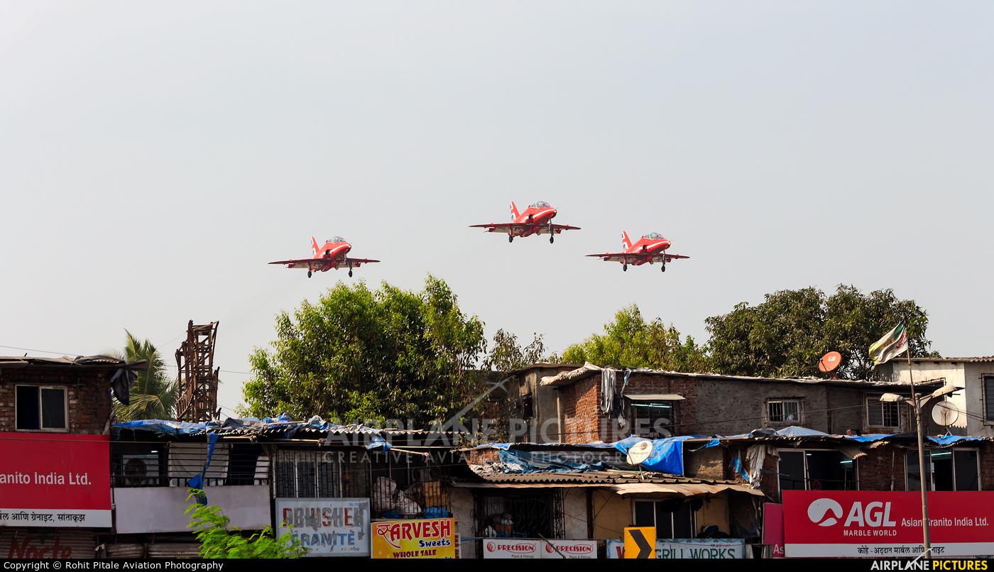 """Royal Air Force """"Red Arrows"""" XX323 aircraft at Mumbai - Chhatrapati Shivaji Intl"""