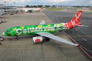 AirAsia's newest special livery, CellMaxx title=