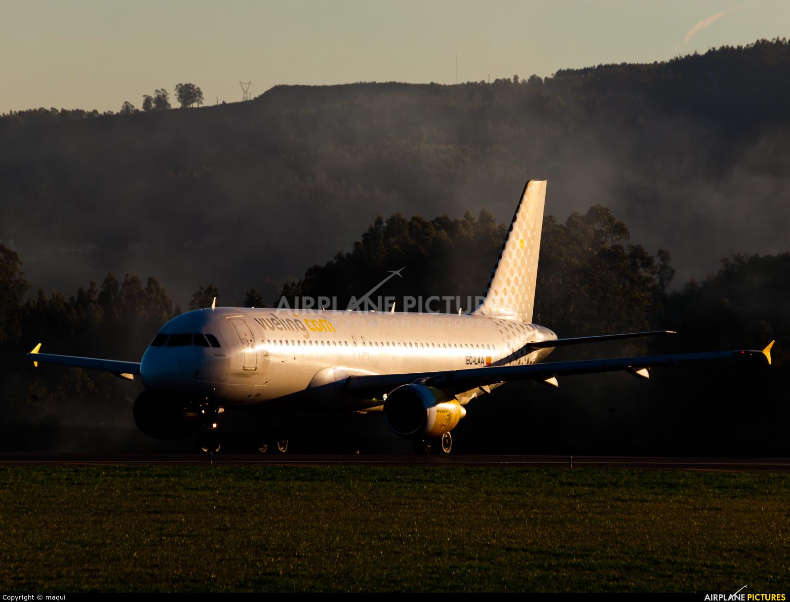 Vueling Airlines EC-LAA aircraft at La Coruña