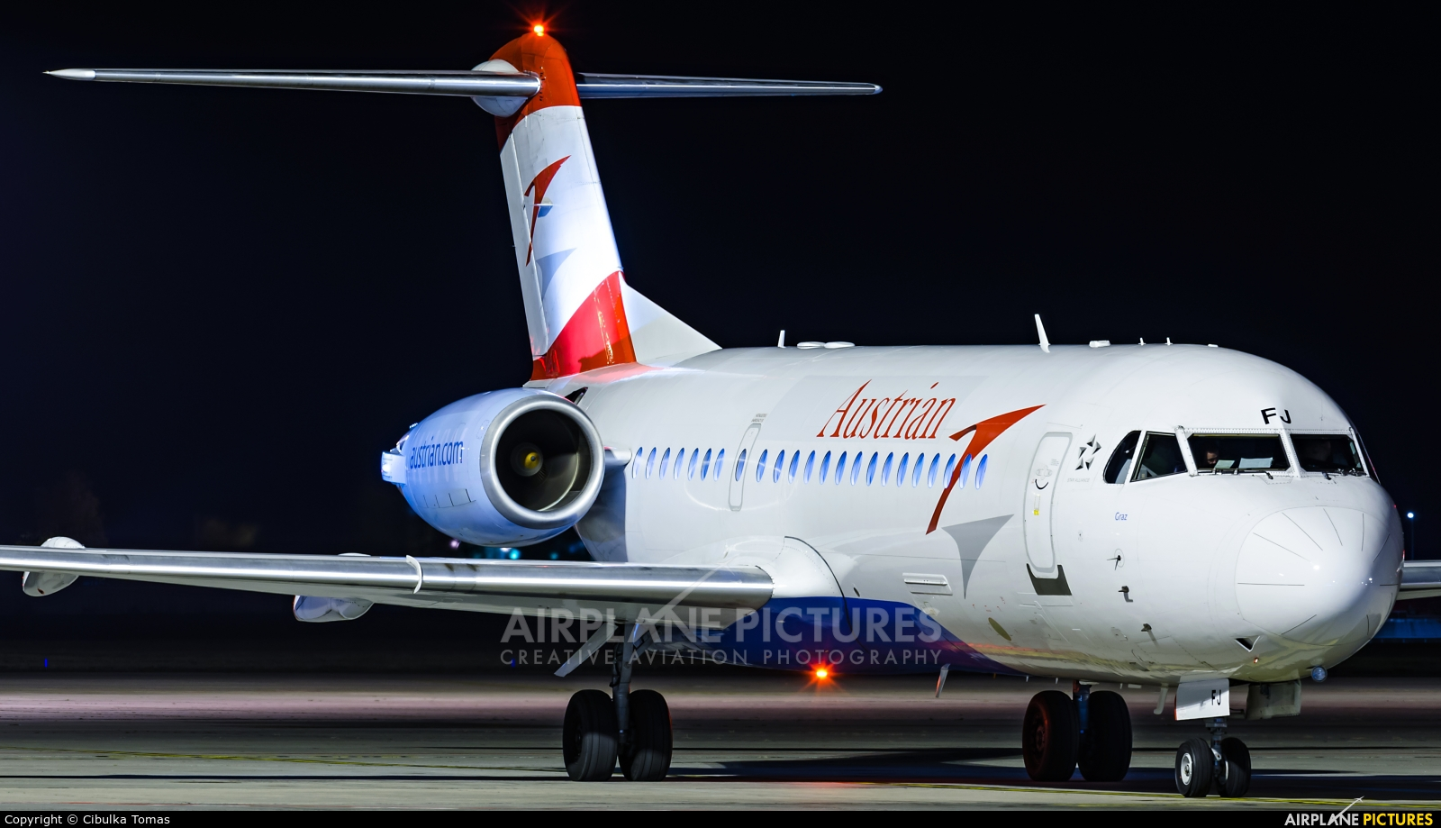 Austrian Airlines/Arrows/Tyrolean OE-LFJ aircraft at Prague - Václav Havel