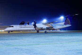 G-PRPH - United Express de Havilland Canada DHC-8-400Q / Bombardier Q400