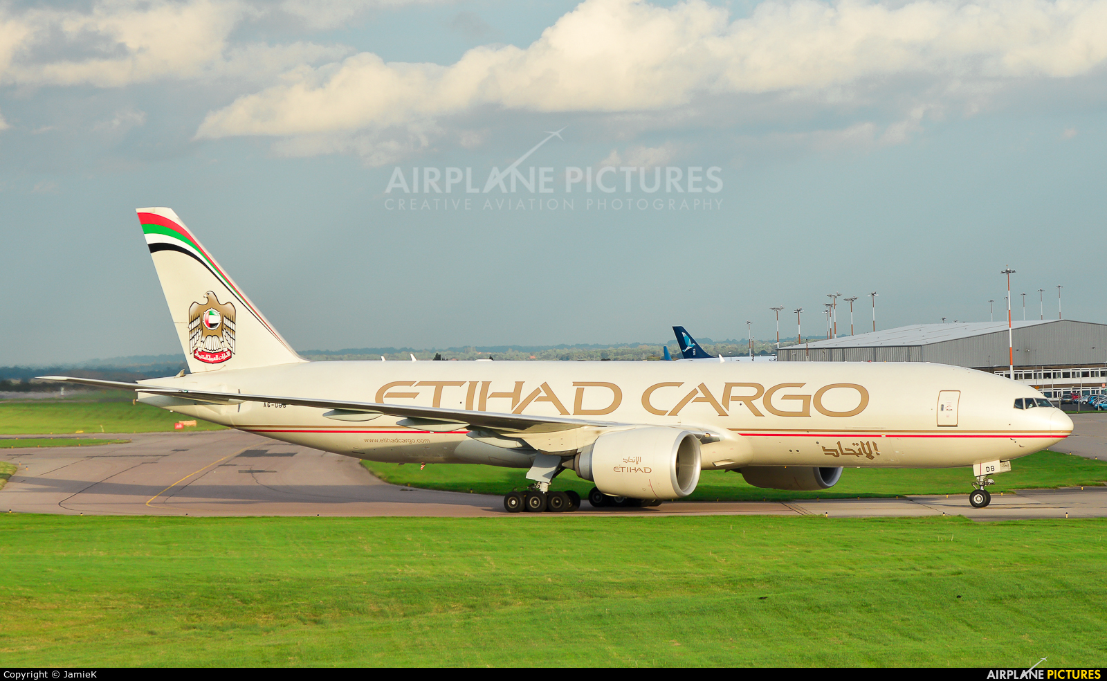 Etihad Cargo A6-DDB aircraft at East Midlands