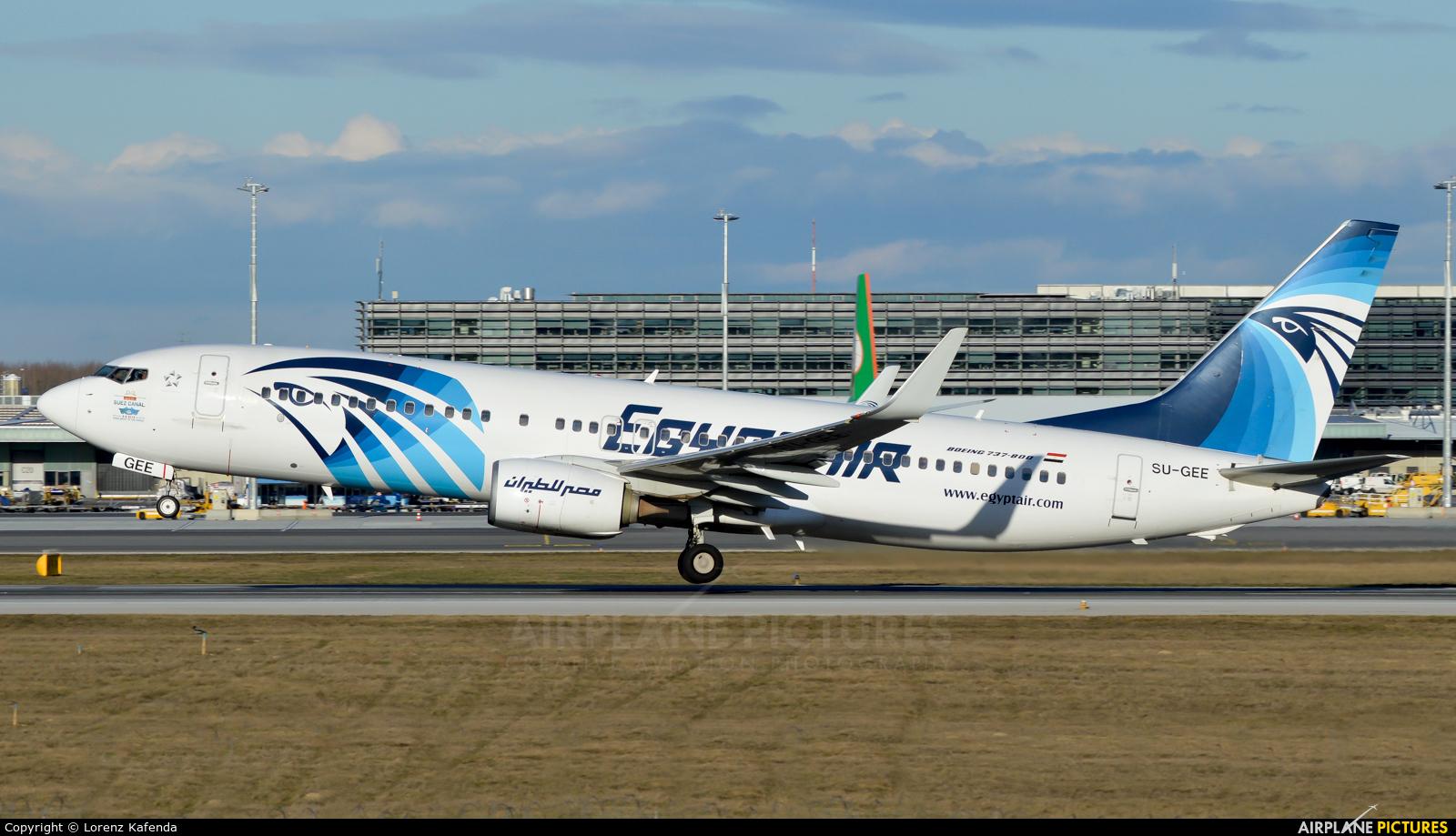 Egyptair SU-GEE aircraft at Vienna - Schwechat